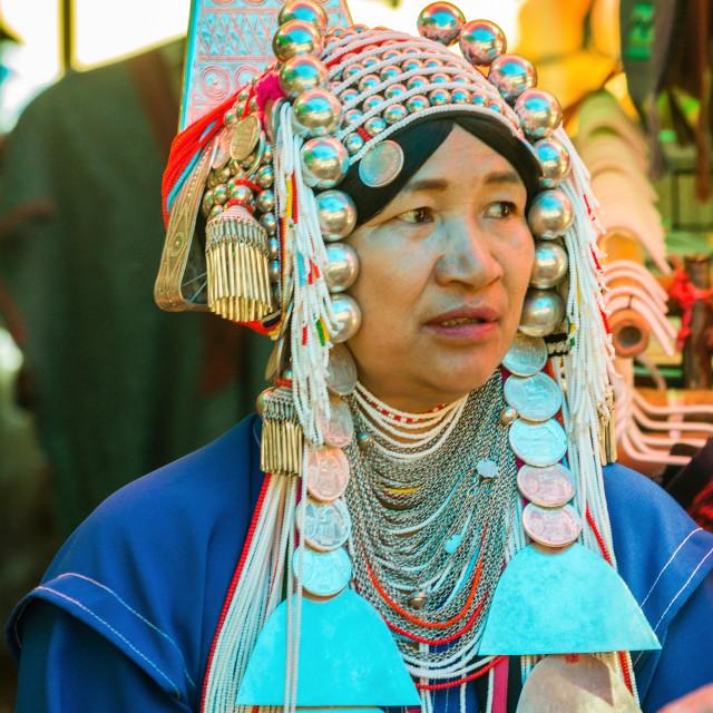"""An Akha hilltribe woman"" stock image"