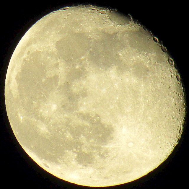 """Supermoon showing some craters"" stock image"