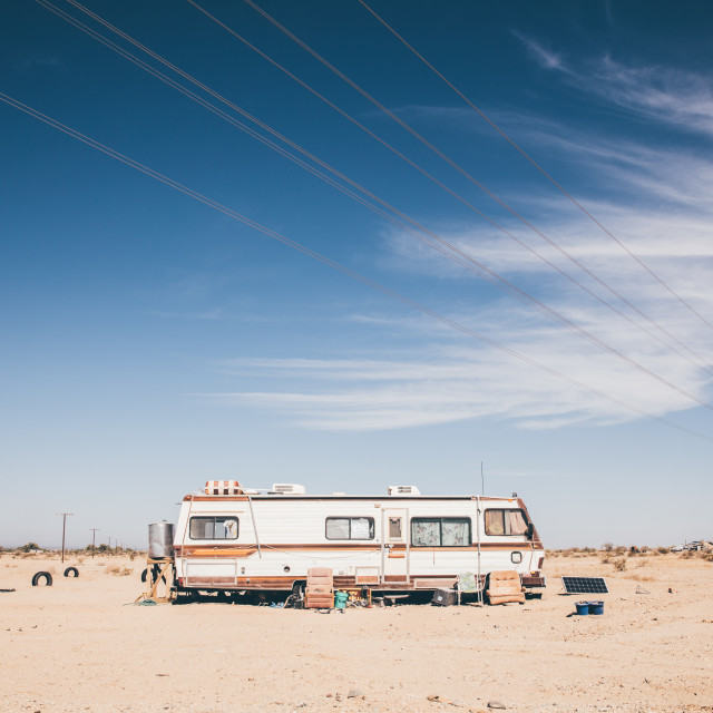 """Caravan in the desert"" stock image"