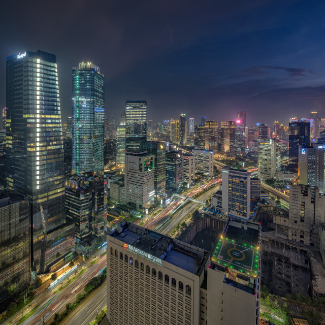 """Jakarta: Sudirman during peak hours"" stock image"