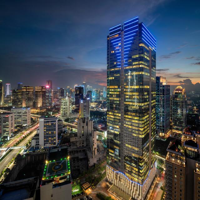 """Jakarta: Sahid Sudirman Center"" stock image"