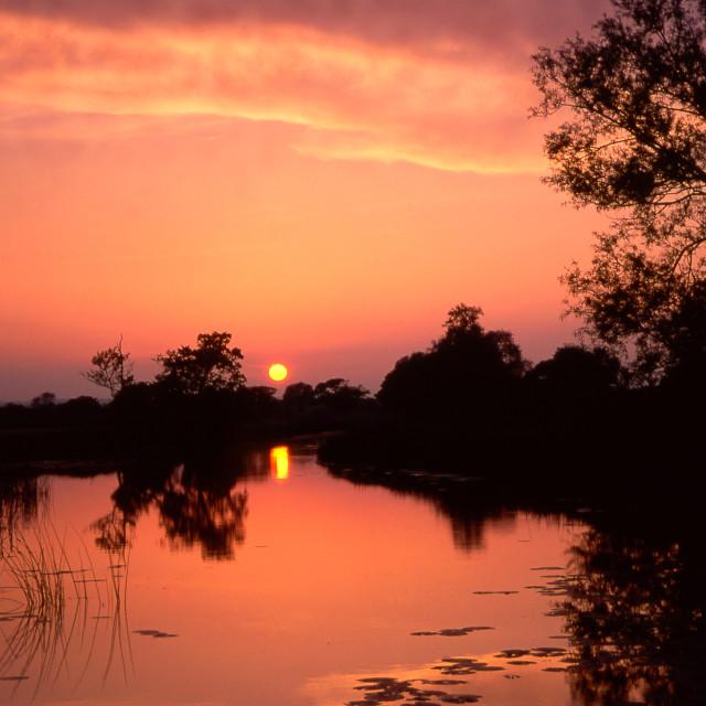 """Sunset, River Stour"" stock image"