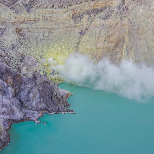 """Volcano Ijen, Java, Indonesia"" stock image"