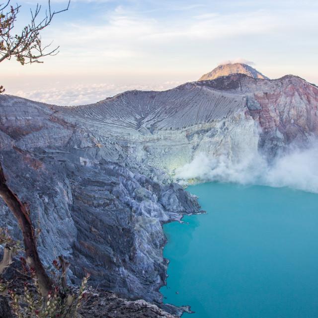 """""""Volcano Ijen, Java, Indonesia"""" stock image"""