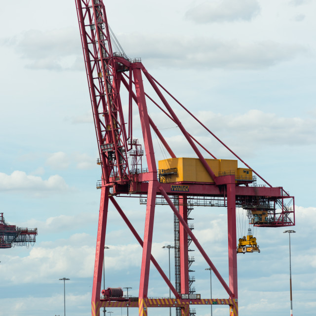 """""""Shipping Industry / Container quayside cranes"""" stock image"""