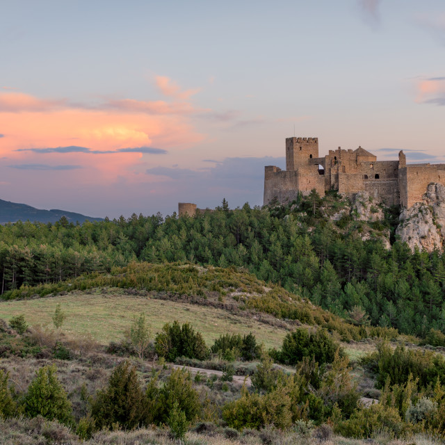 """Medieval castle of Loarre,Aragon, Spain"" stock image"