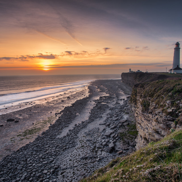 """""""Nash Point lighthouse"""" stock image"""