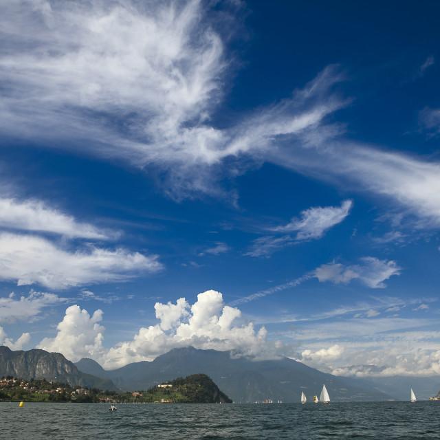 """panorama di lago"" stock image"