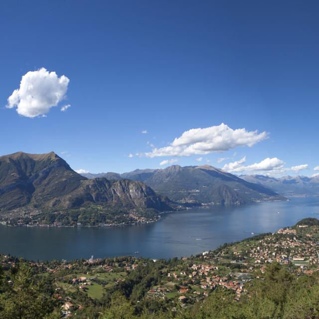 """""""lago di Como a Bellagio"""" stock image"""
