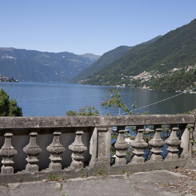 """""""balcone sul lago"""" stock image"""