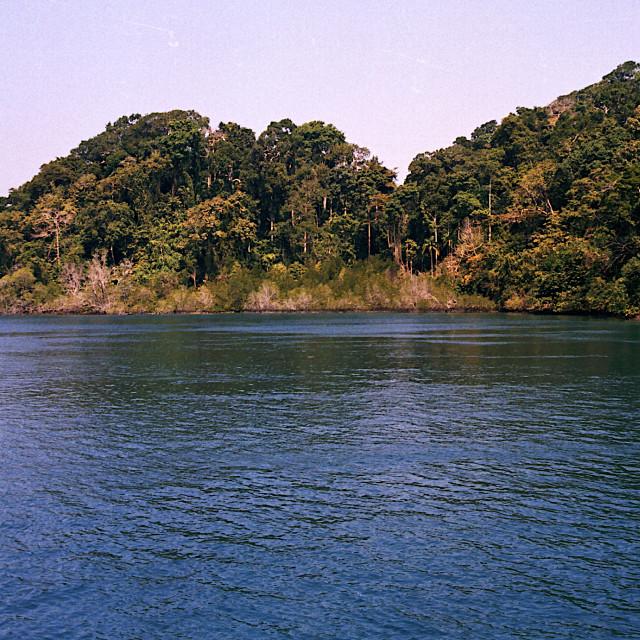 """Wooded Islands, Andaman"" stock image"