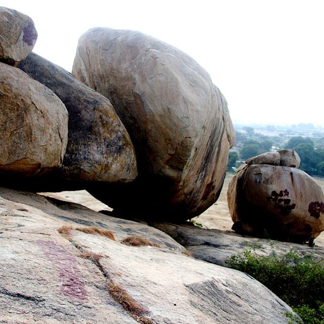 """Boulders on Rocky Slope"" stock image"