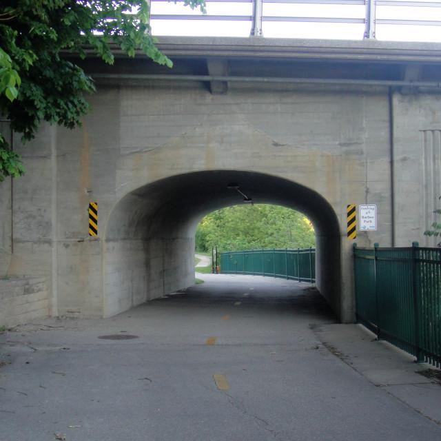 """Bike Tunnel"" stock image"