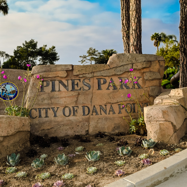 """Dana Point - Capistrano Beach- Pines Park"" stock image"