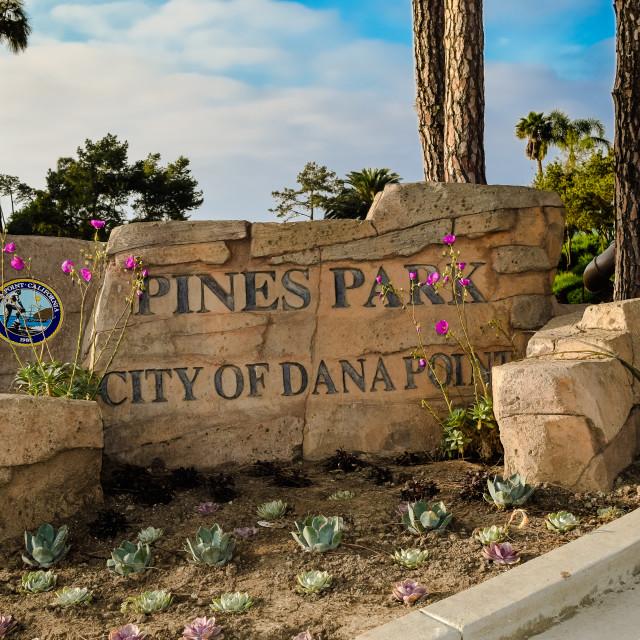 """Dana Point - Capistrano Beach- Pines Park"" stock image"
