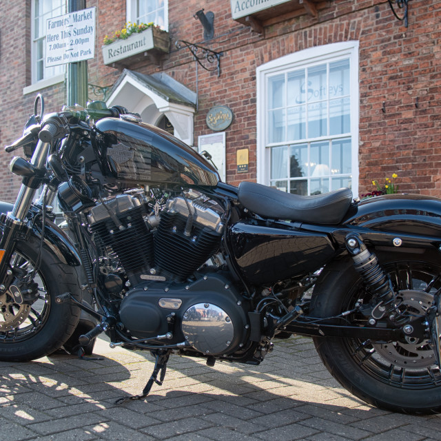 """Harley Outside Softleys"" stock image"