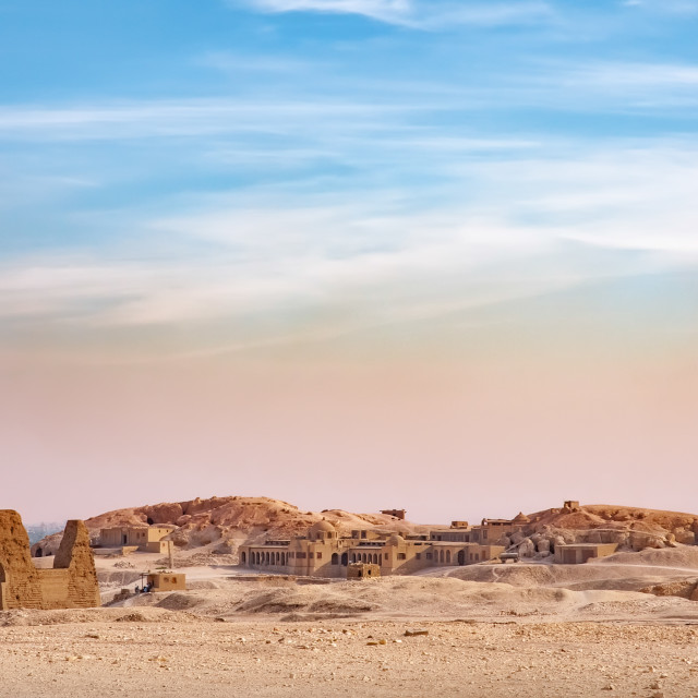 """""""View of the Valley of the Kings"""" stock image"""