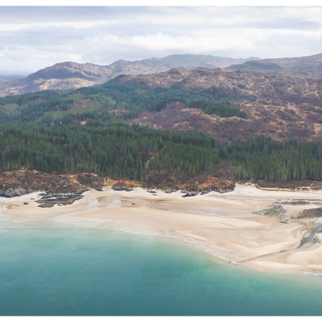 """The Singing Sands, Ardnamurchan"" stock image"