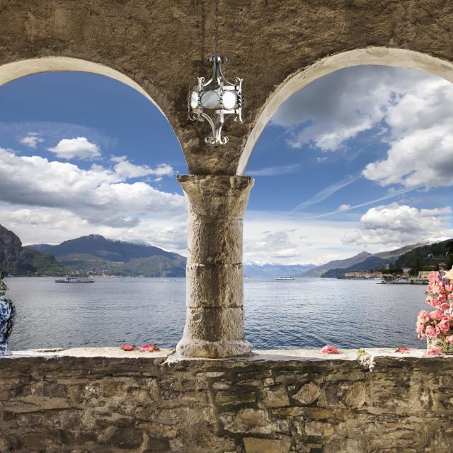 """""""bifora sul lago"""" stock image"""