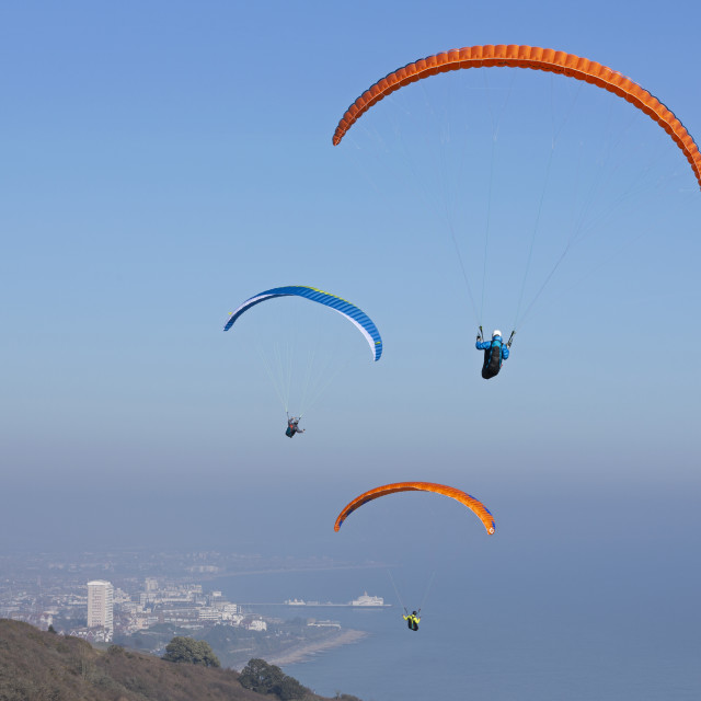 """Hang Gliding 2"" stock image"