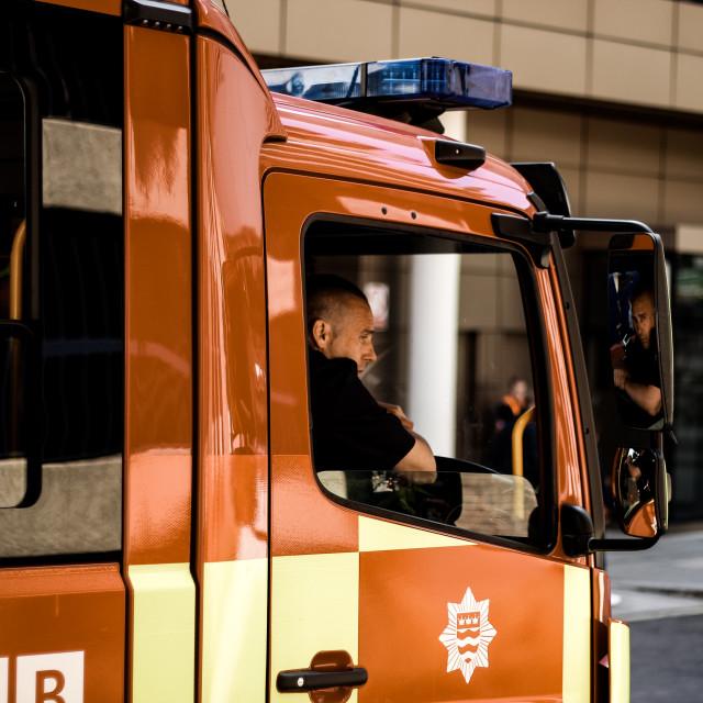 """The Firemen"" stock image"