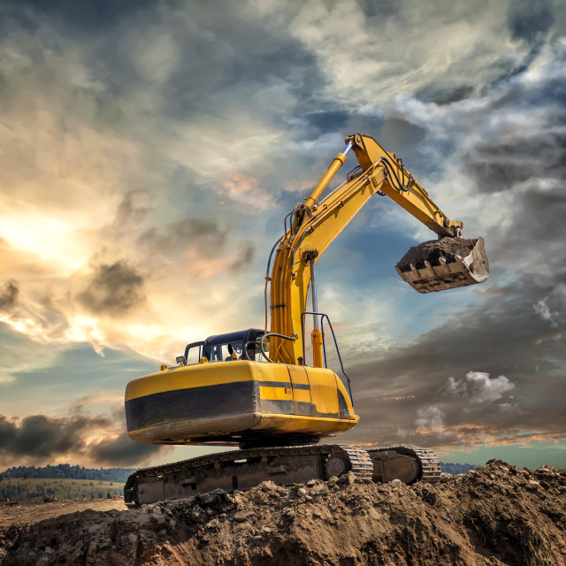"""Crawler excavator"" stock image"
