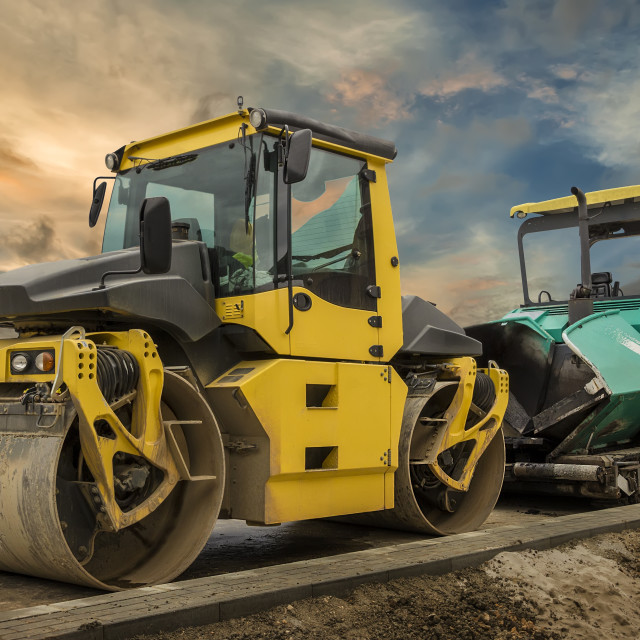"""""""Road construction."""" stock image"""