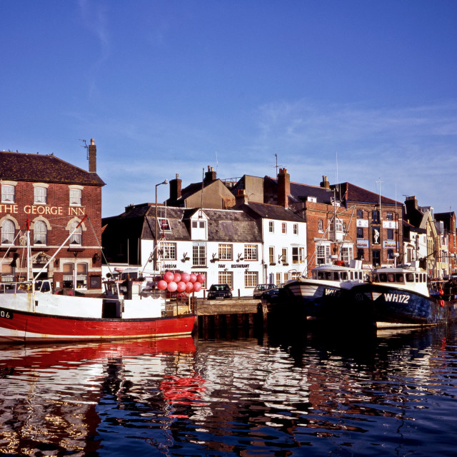 """""""Harbour Reflections - Weymouth"""" stock image"""