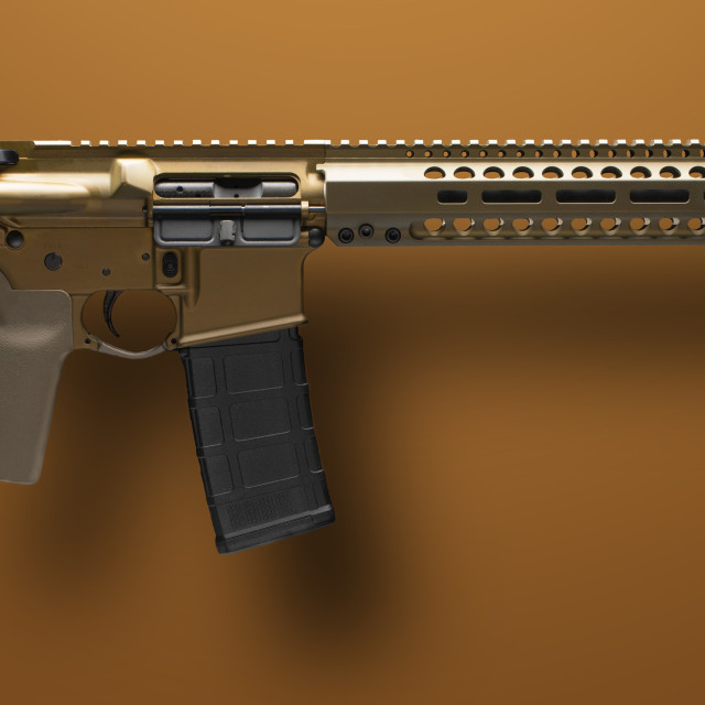 """""""AR-15 with dropshadow"""" stock image"""