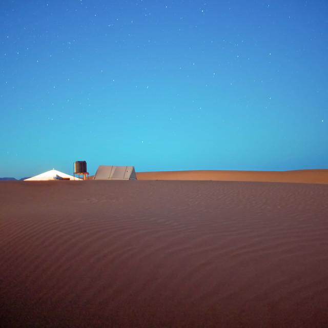 """""""Sahara Desert Full Moon"""" stock image"""