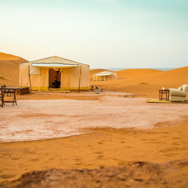 """Morocco Desert Camp"" stock image"