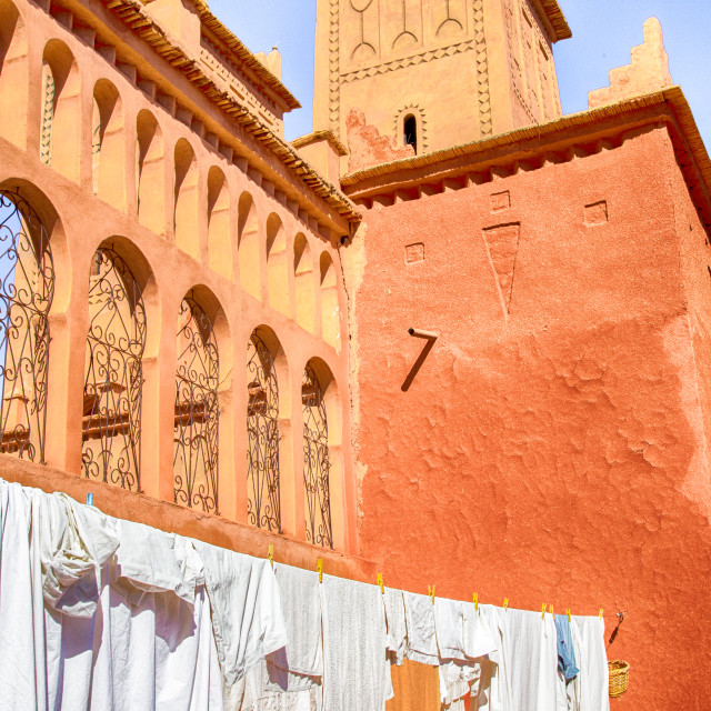 """Morocco Laundry"" stock image"