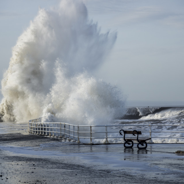 """Aberystwyth storm swell"" stock image"