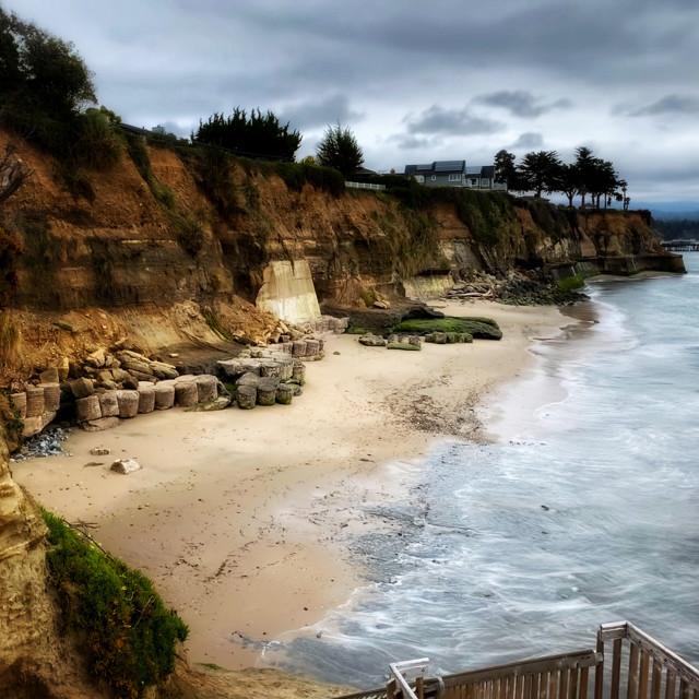 """Private Beach in Capitola, California"" stock image"