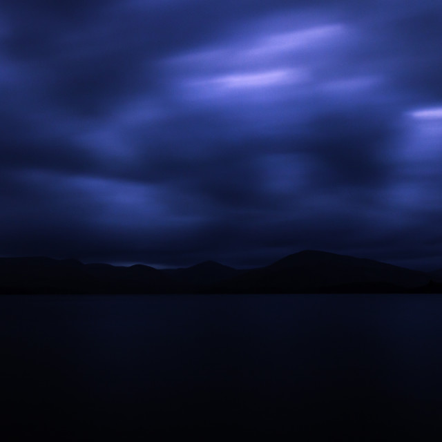 """Sunset on Loch Lomond 1"" stock image"