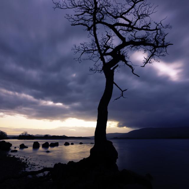 """Sunset on Loch Lomond 2"" stock image"