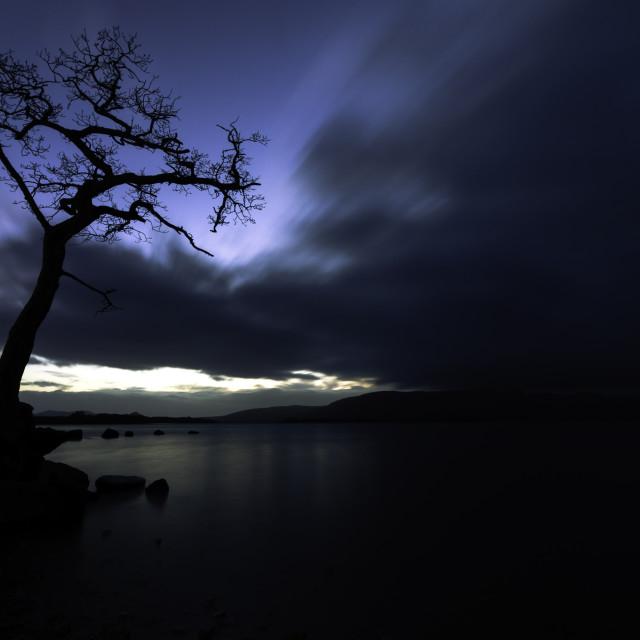 """Sunset on Loch Lomond 3"" stock image"