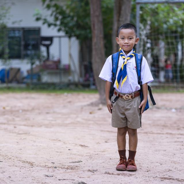 """Thai Boy Scout"" stock image"