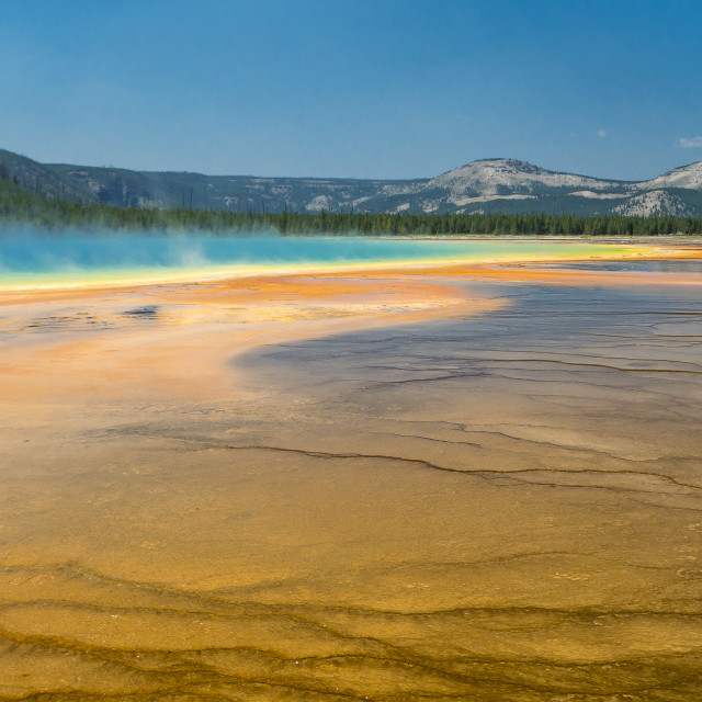 """Yellowstone hot spring"" stock image"