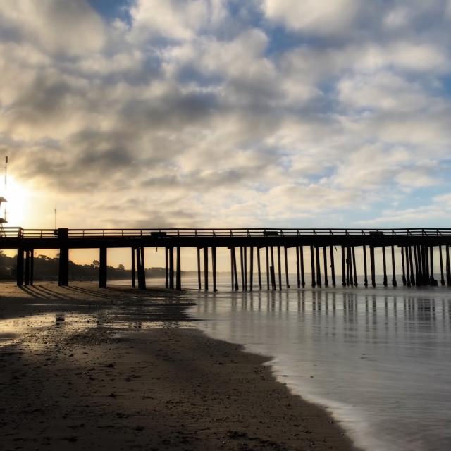 """""""Pier in Aptos California"""" stock image"""