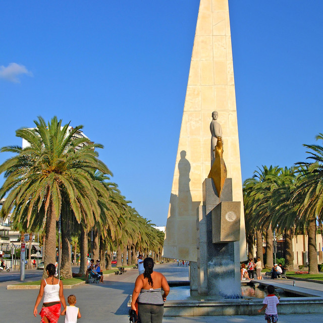 """Paseo Jaume monument on Salou"" stock image"