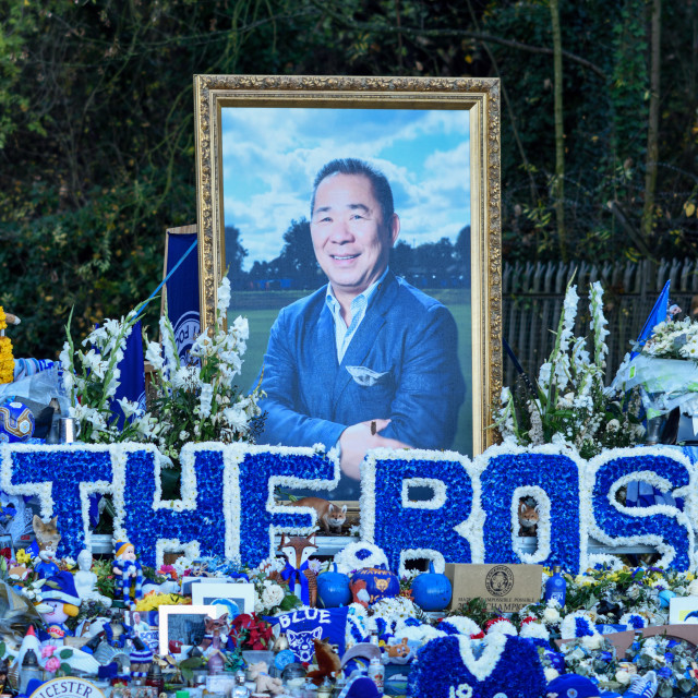 """""""Leicester City 5000-1 Walk For Vichai,UK."""" stock image"""