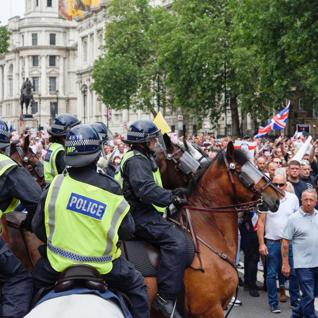 """""""Tommy Robinson Protest In London,UK."""" stock image"""