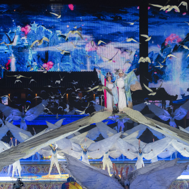 """""""The Song of Everlasting Sorrow Show in Xi'an, Shaanxi Province, China, Asia"""" stock image"""
