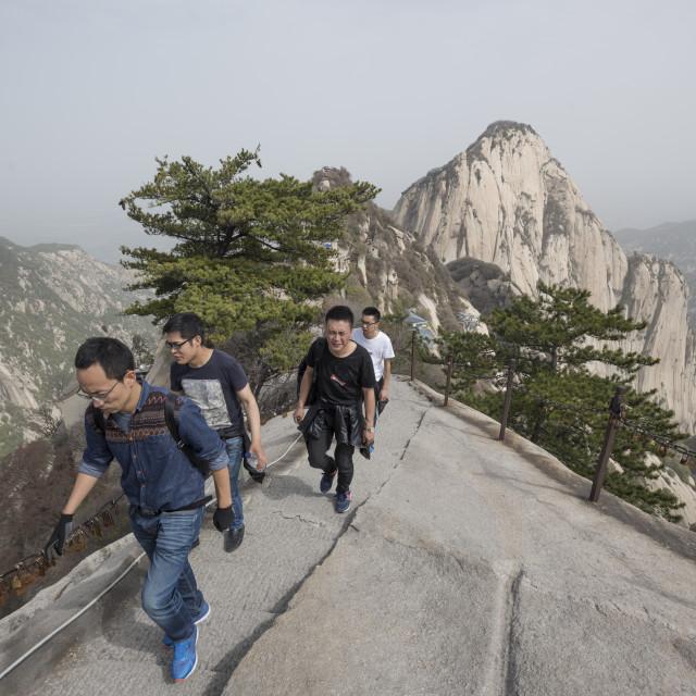 """Mt. Huashan or Hua Mountain, Shaanxi Province, China, Asia"" stock image"