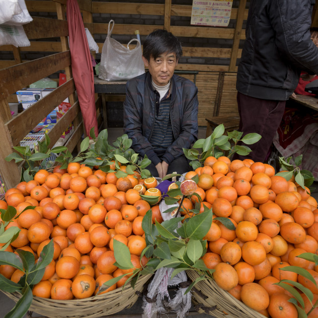 """Hancheng, Shaanxi Province, China, Asia"" stock image"