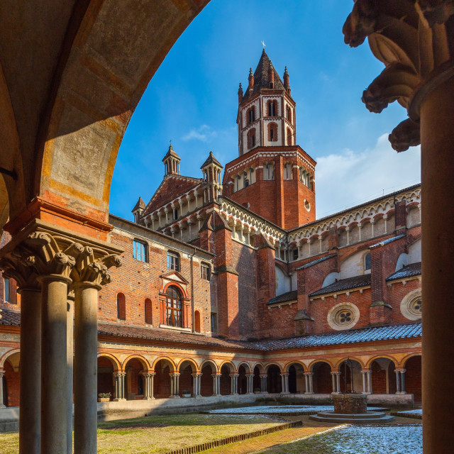 """Church of S. Andrea, Vercelli, Piedmont, Italy"" stock image"