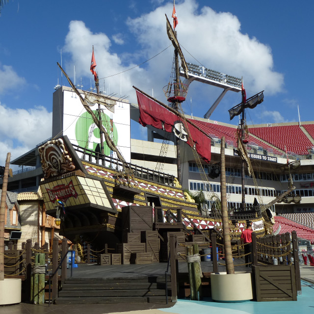 """Tampa Bay Buccaneers Pirate ship"" stock image"