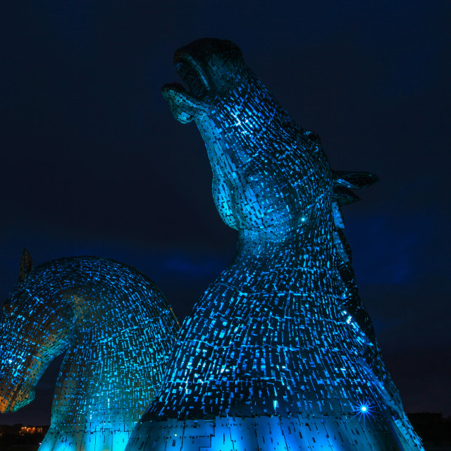 """The Kelpies in The Helix"" stock image"