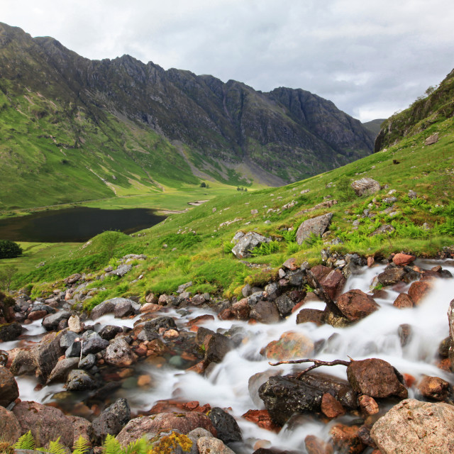 """Glen Coe mountains"" stock image"